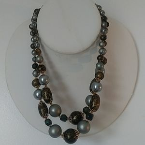 Vintage Double Strings Necklace.